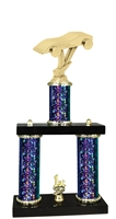 2 Column Starburst PLUS Pinewood Derby Trophy in 5 Colors