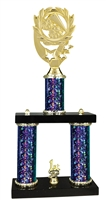 2 Column Starburst PLUS Cheerleading Trophy in 5 Colors
