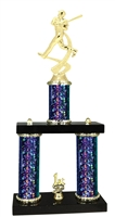 2 Column Starburst PLUS Baseball Trophy in 5 Colors