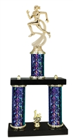 2 Column Starburst PLUS Female Track Trophy in 5 Colors
