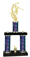 2 Column Starburst PLUS Female Volleyball Trophy in 5 Colors