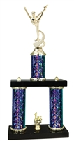 2 Column Starburst PLUS Dance Squad Trophy in 5 Colors