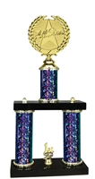 2 Column Starburst PLUS Allstar Trophy in 5 Colors