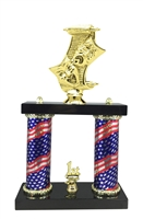 2 Column Flag Column Drama Trophy
