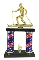 2 Column Flag Column Cross Country Snow Ski Trophy