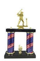 2 Column Flag Column Female T-Ball Trophy