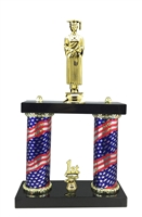 2 Column Flag Column Male Graduate Trophy