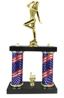 2 Column Flag Column Tap Dance Trophy
