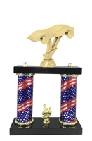 2 Column Flag Column Pinewood Derby Trophy