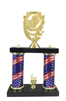 2 Column Flag Column Basketball Trophy