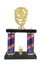 2 Column Flag Column Cheerleading Trophy