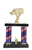 2 Column Flag Column Ambulance EMT Trophy