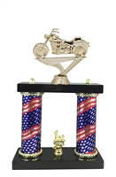 2 Column Flag Column Motorcycle Trophy