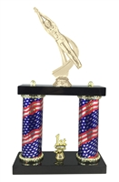 2 Column Flag Column Male Swimming Trophy