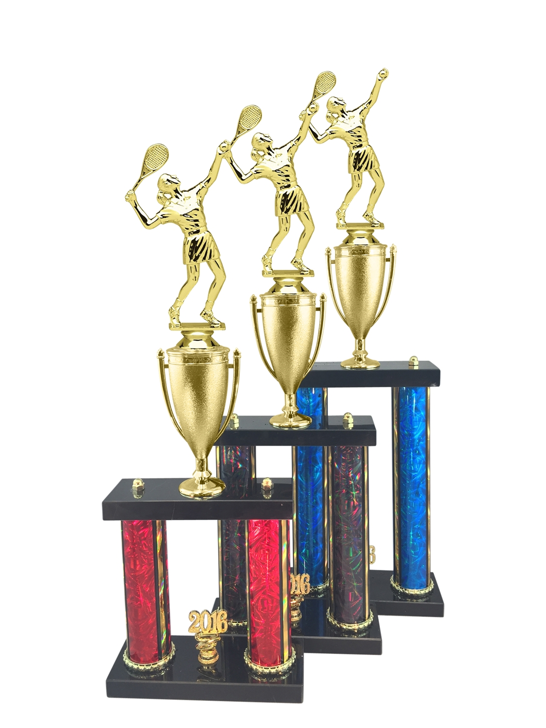 Female Tennis Trophy Available in 11 Color & 3 Size Options