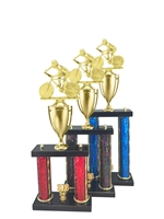 2 Post Male Cycling Trophy in 11 Color & 3 Size Options