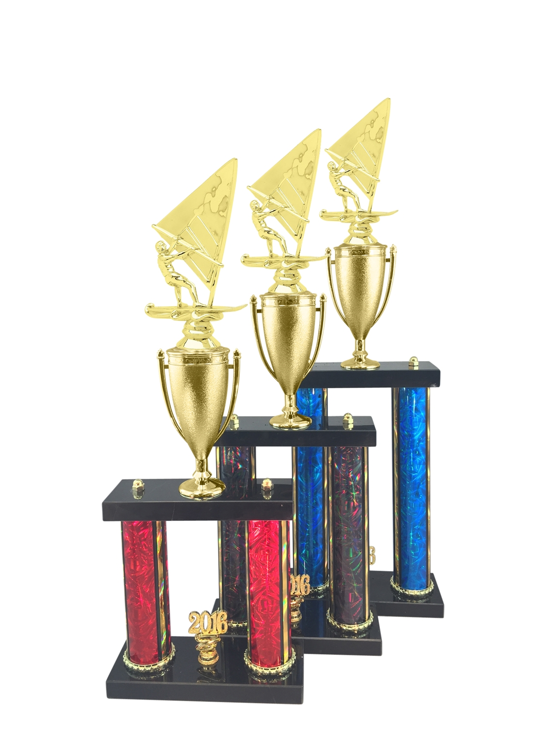 2 Post Windsurfer Trophy in 11 Color & 3 Size Options