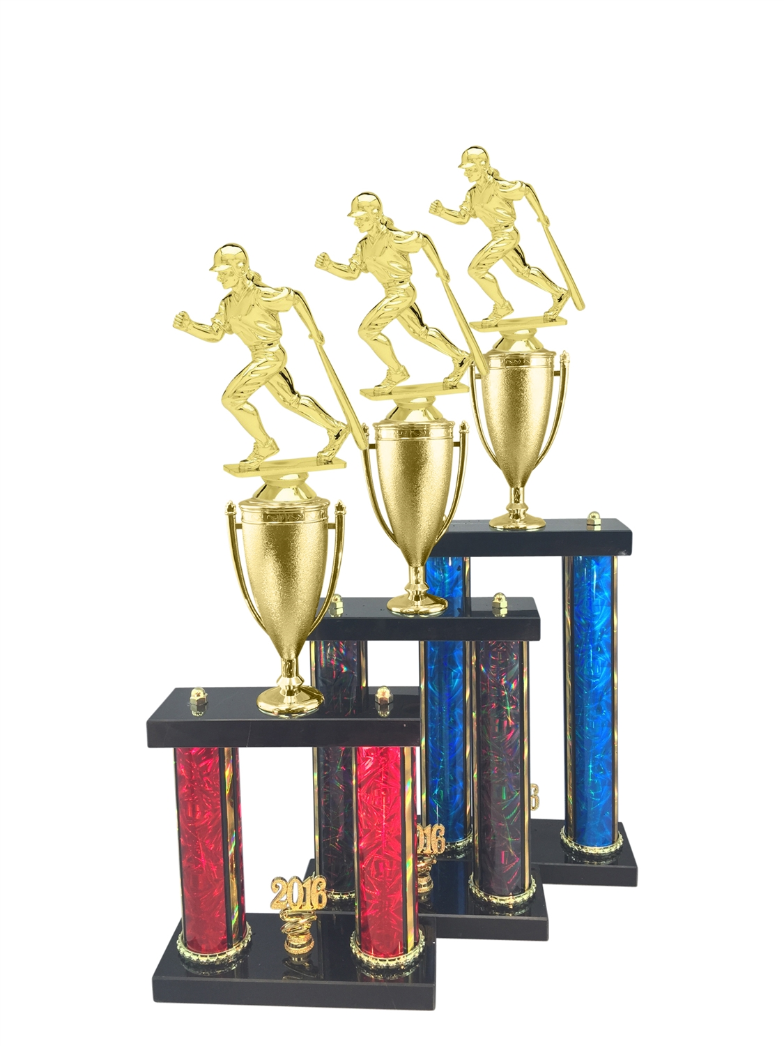 Female Baseball Trophy Available in 11 Color & 3 Size Options