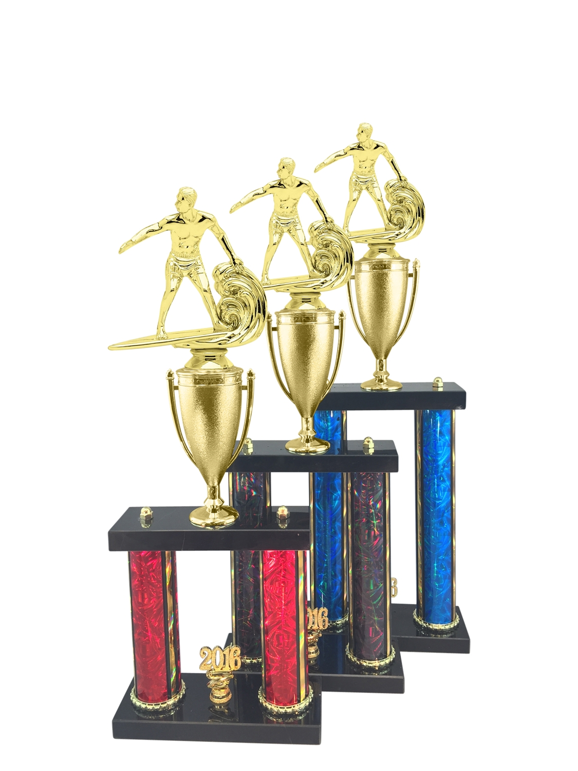 Surfing Trophy Available in 11 Color & 3 Size Options