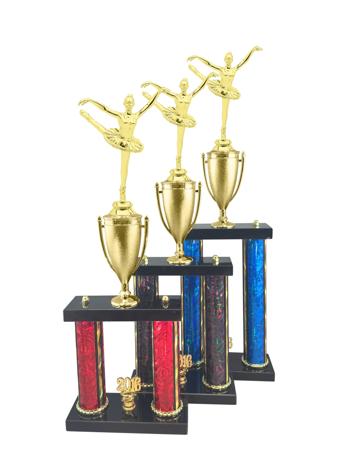 2 Post Ballet Trophy in 3 Sizes - in 11 Color & 3 Size Options