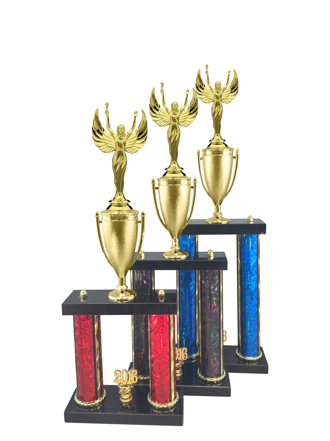 2 Post Female Victory Trophy in 11 Color & 3 Size Options