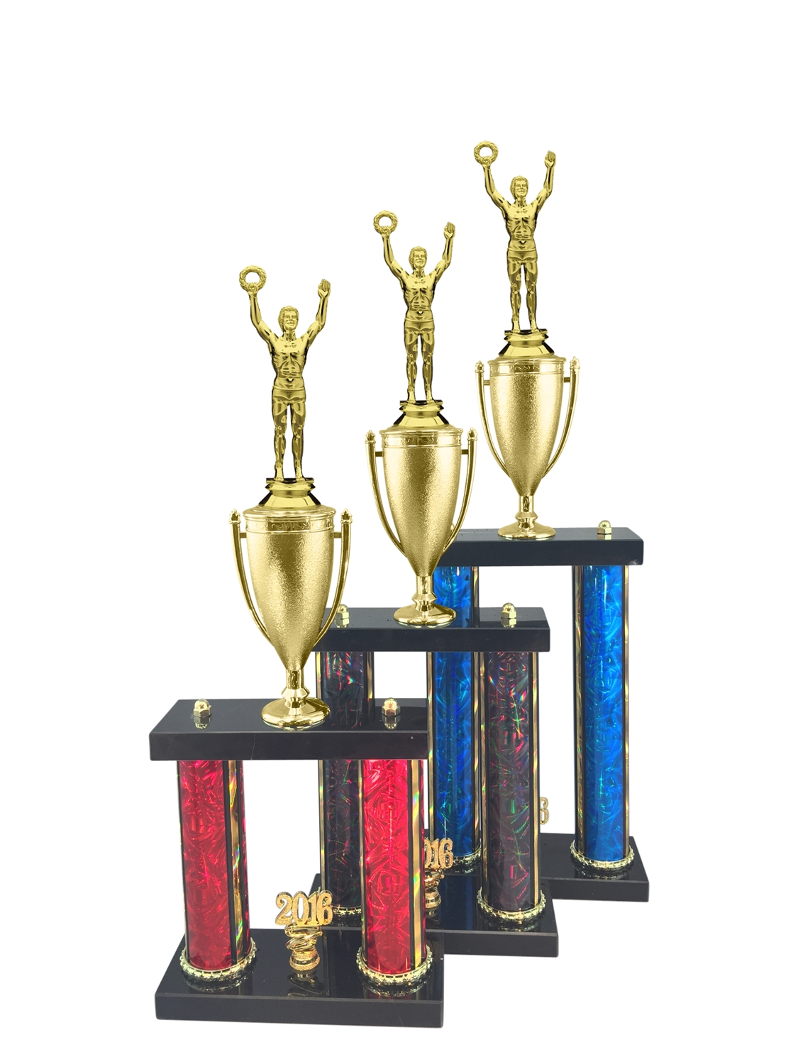 2 Post Male Victory Trophy in 11 Color & 3 Size Options