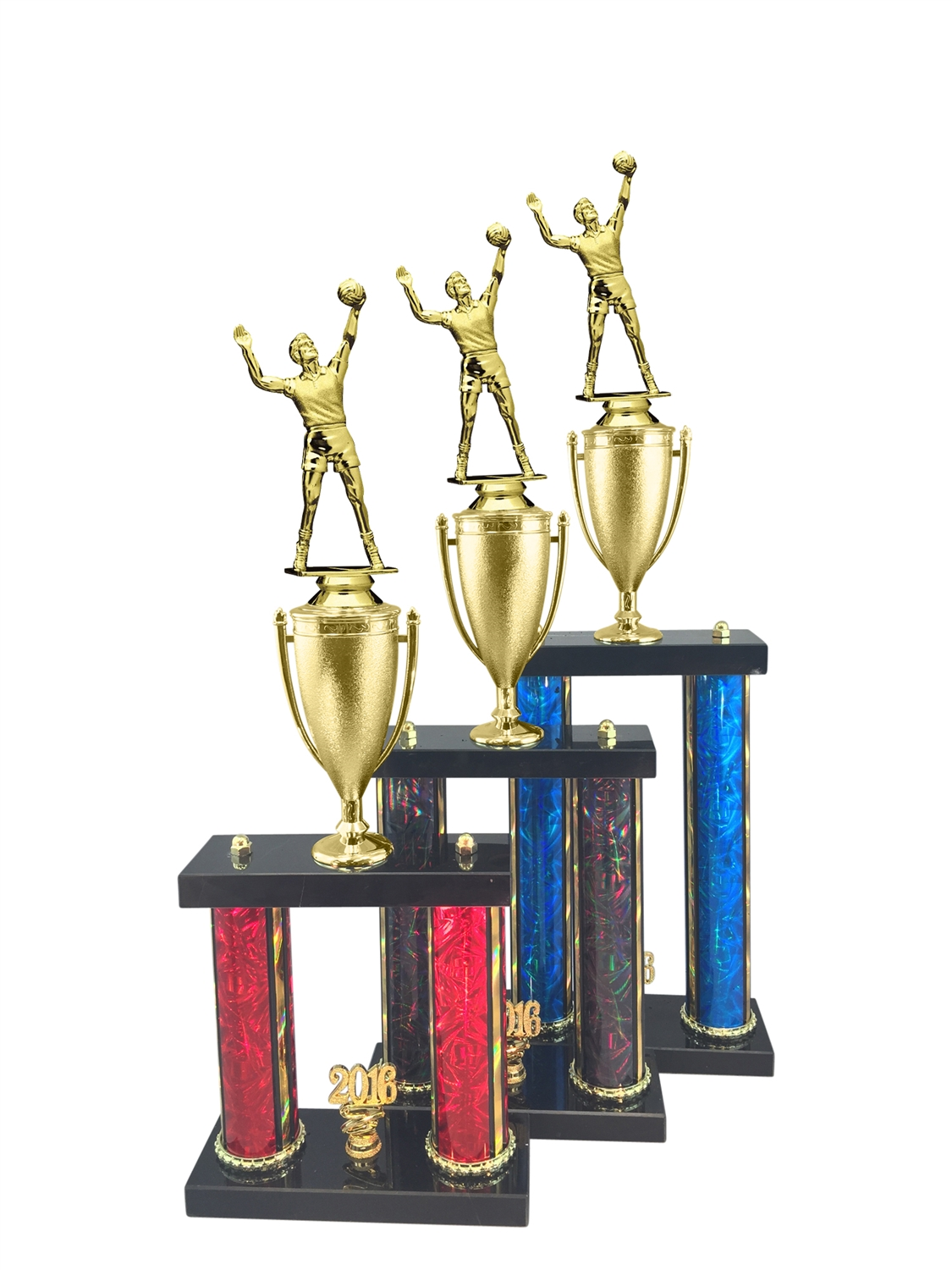 Male Volleyball Trophy Available in 11 Color & 3 Size Options