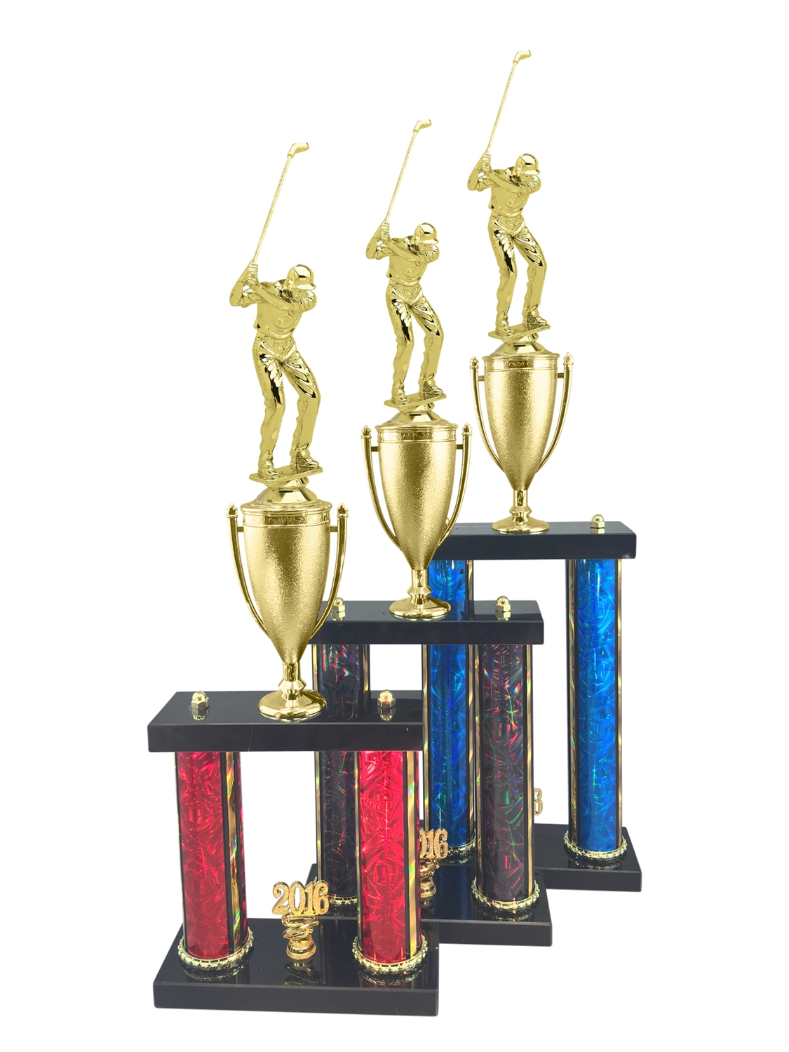 Male Golf Trophy Available in 11 Color & 3 Size Options