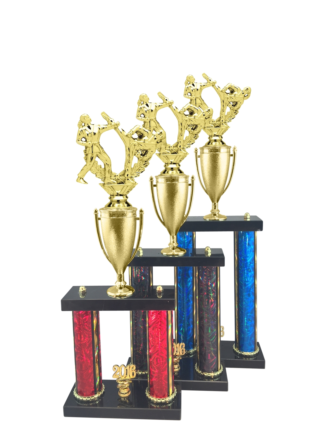 Female Martial Arts Trophy Available in 11 Color & 3 Size Options
