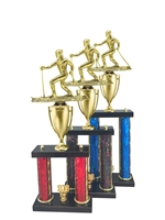 2 Post Cross Country Ski Trophy in 11 Color & 3 Size Options