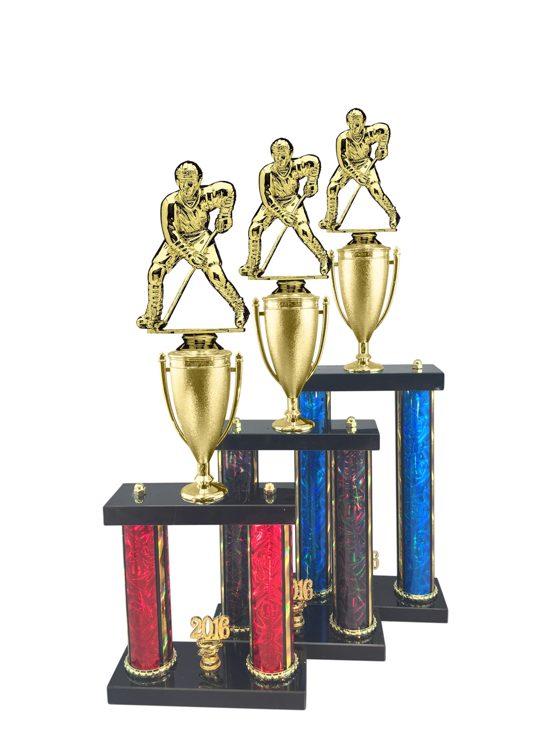 Male Hockey Trophy Available in 11 Color & 3 Size Options
