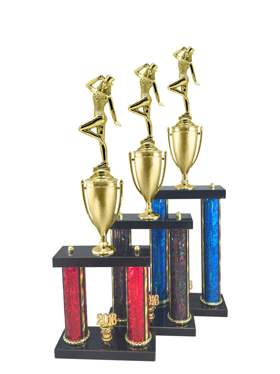 2 Post Tap Dance Trophy in 11 Color & 3 Size Options