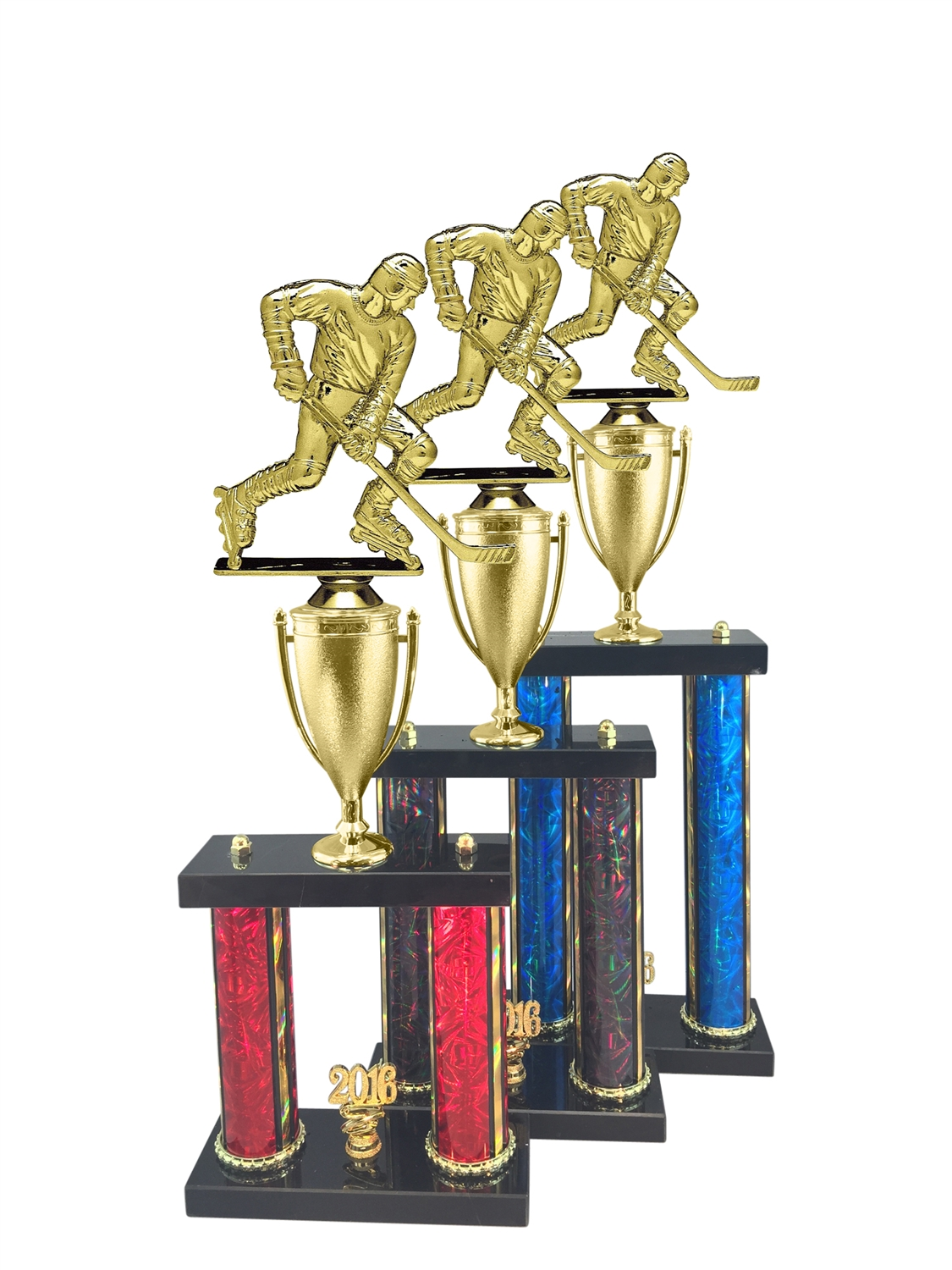 2 Post Street Hockey Trophy in 11 Color & 3 Size Options
