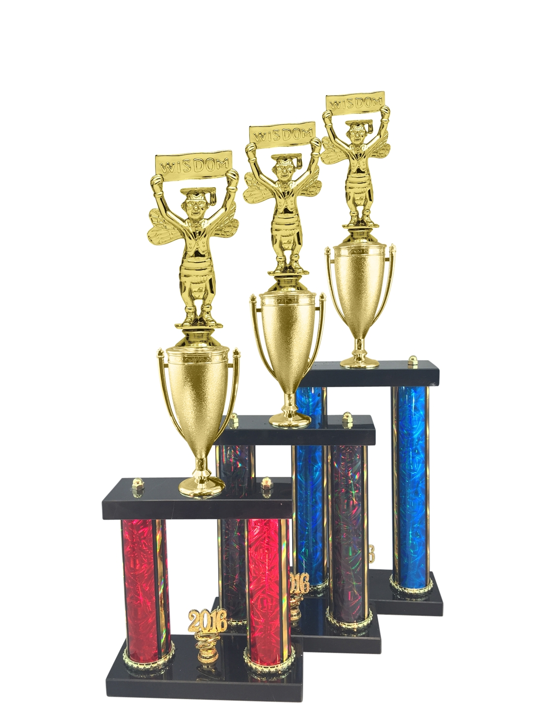 2 Post Wisdom Scholastic Trophy in 11 Color & 3 Size Options