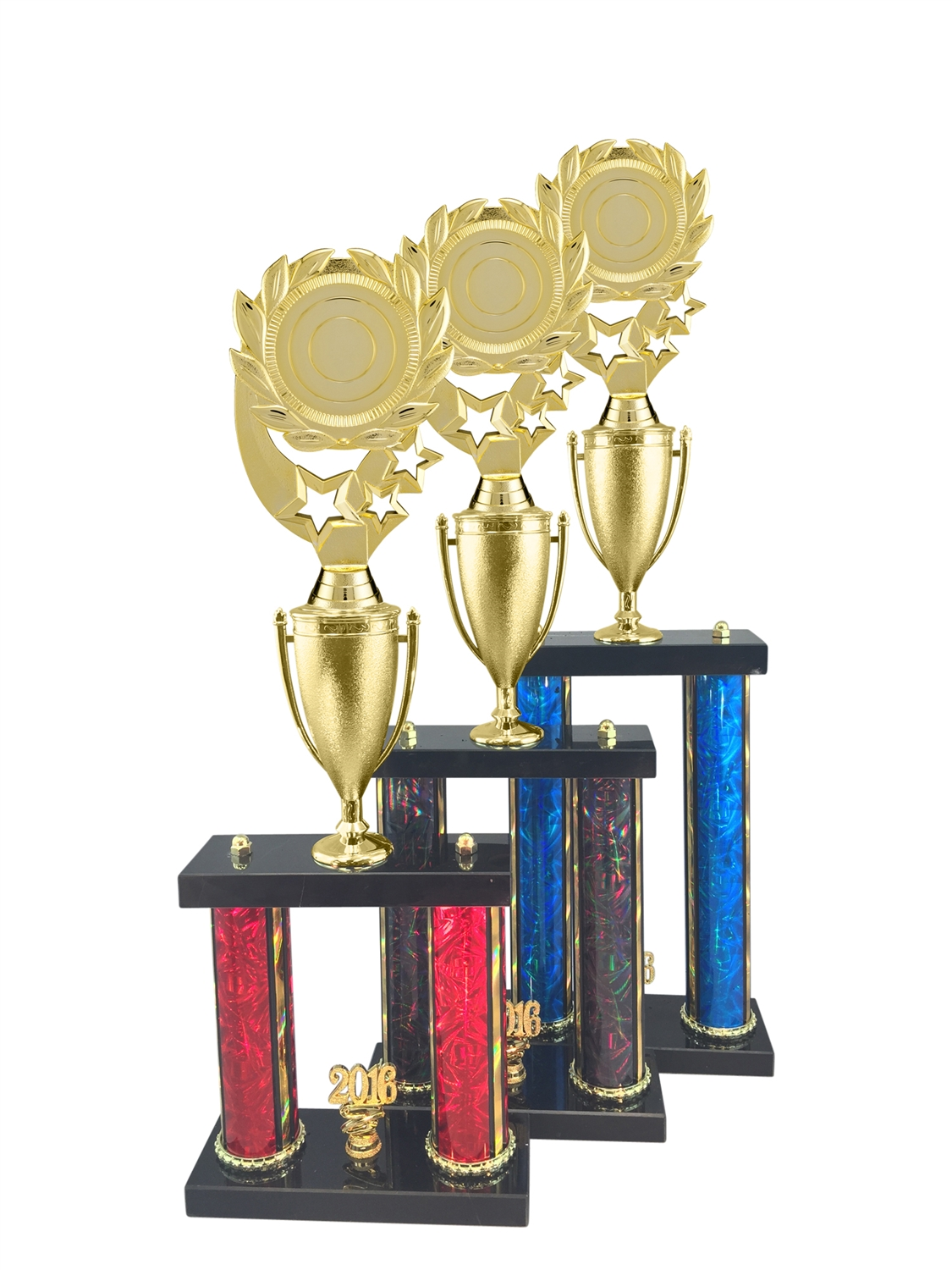 "2 Post Blank 2"" Insert Holder Trophy in 11 Color & 3 Size Options"