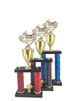 2 Post Motorcycle Trophy in 11 Color & 3 Size Options