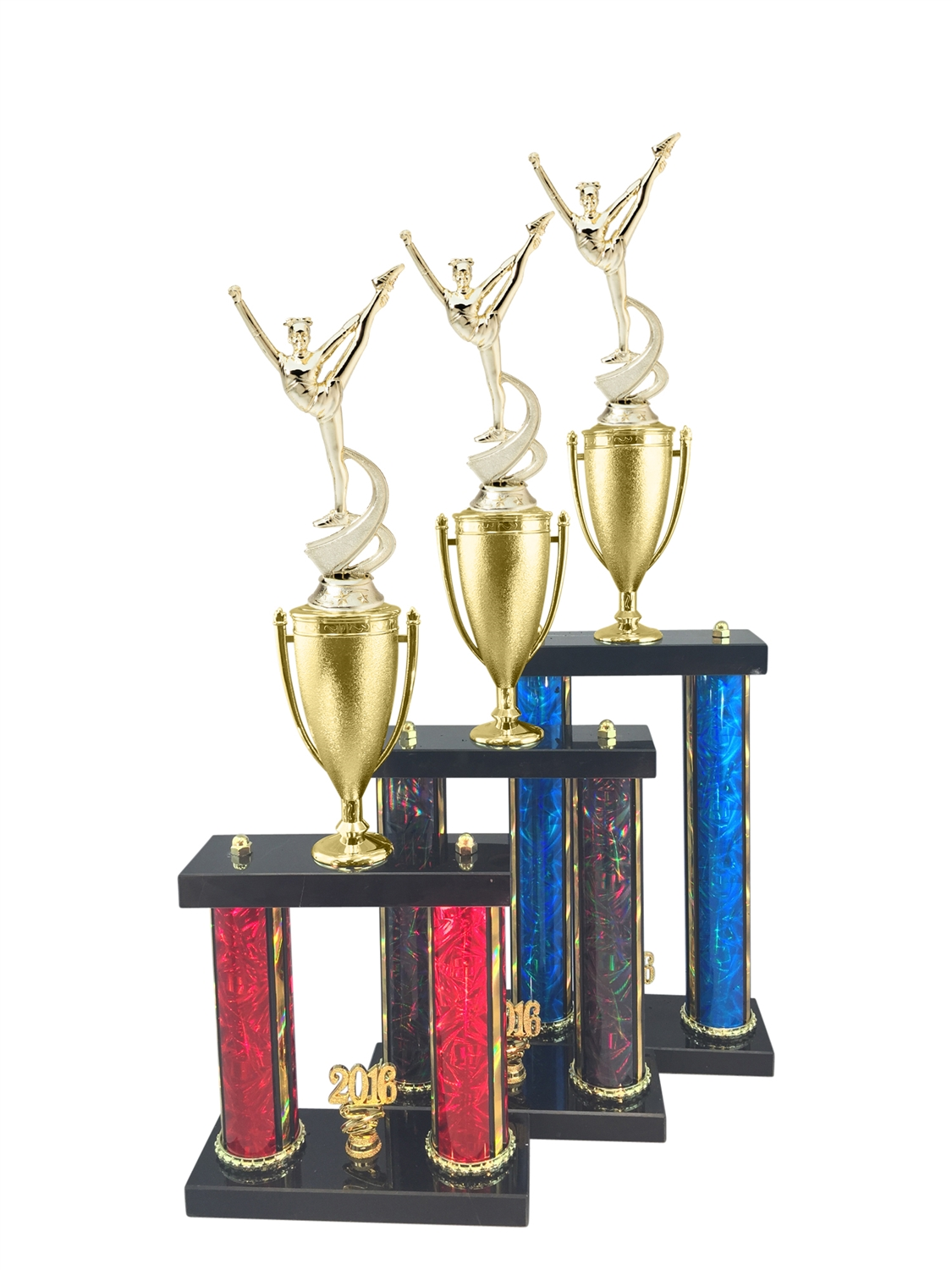 2 Post Dance Trophy in 11 Color & 3 Size Options