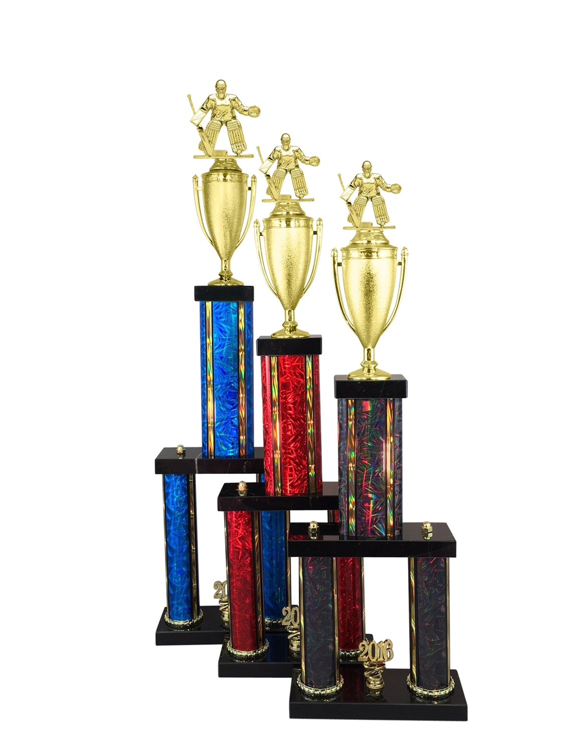 2 Column Female Hockey Trophy in 11 Color & 6 Size Options