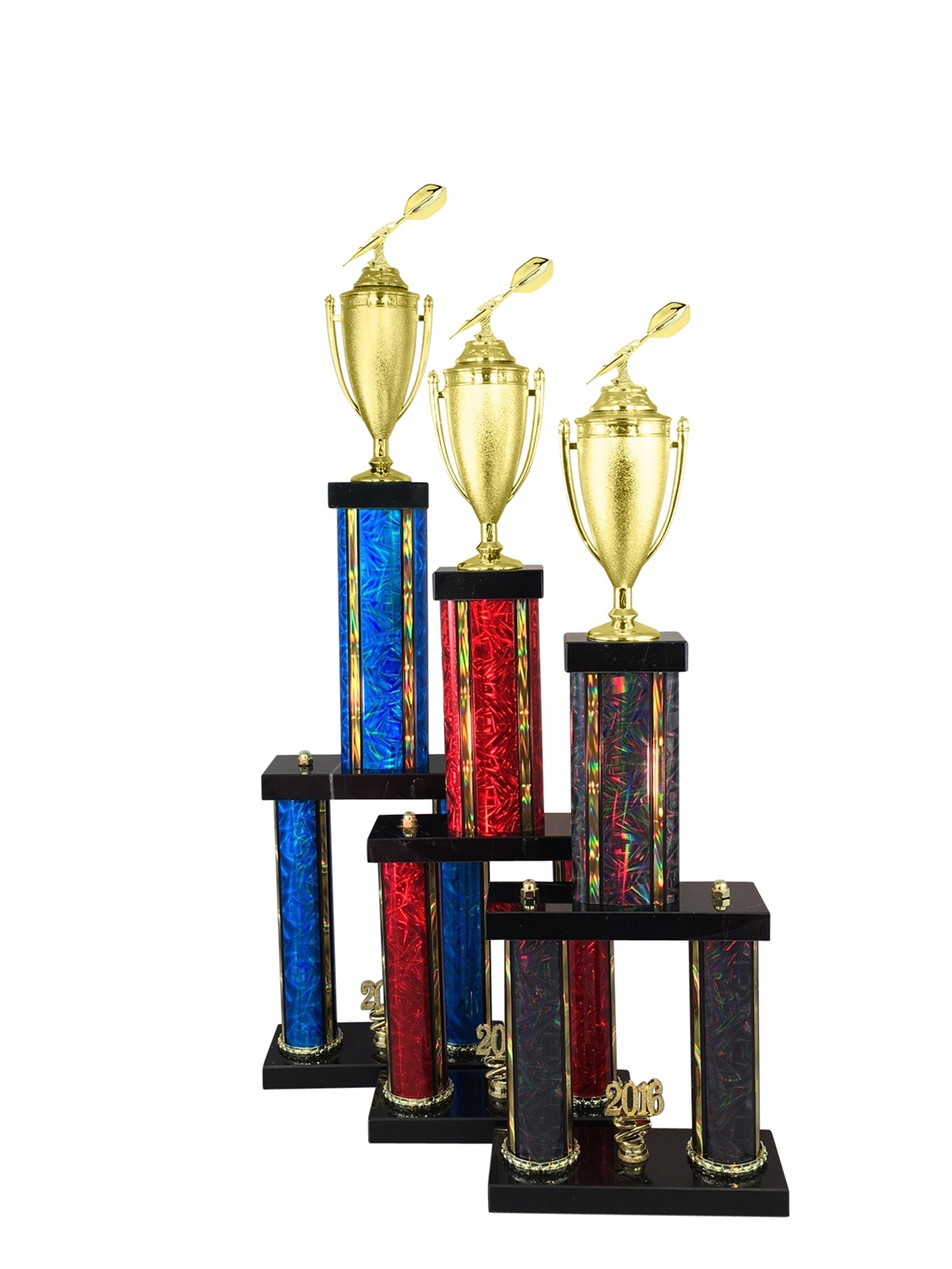 2 Column Darts Trophy in 11 Color & 6 Size Options