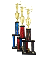 Female Archery Trophy Available in 11 Color & 6 Size Options