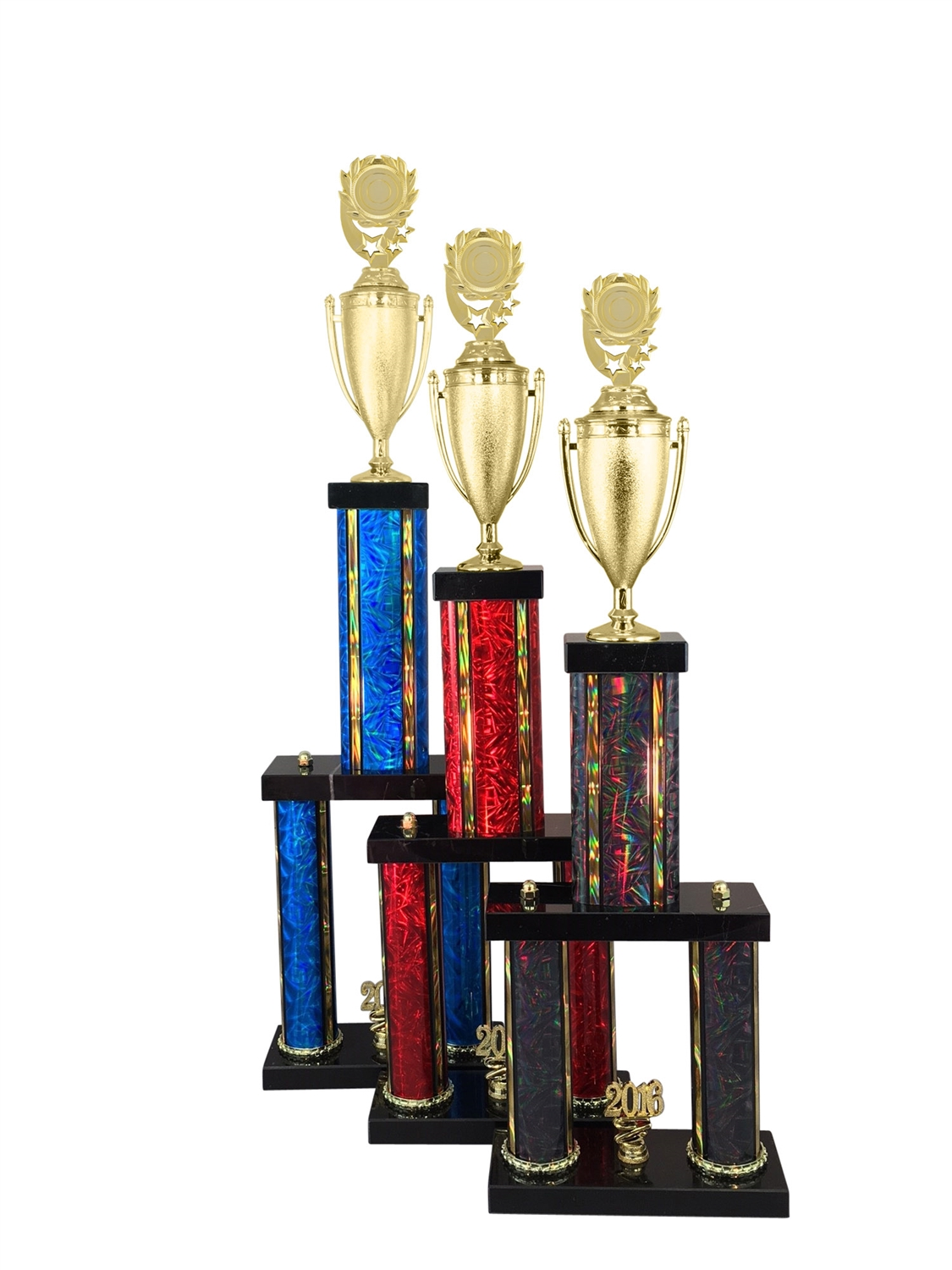 "2 Column Blank 2"" Insert Holder Trophy in 11 Color & 6 Size Options"