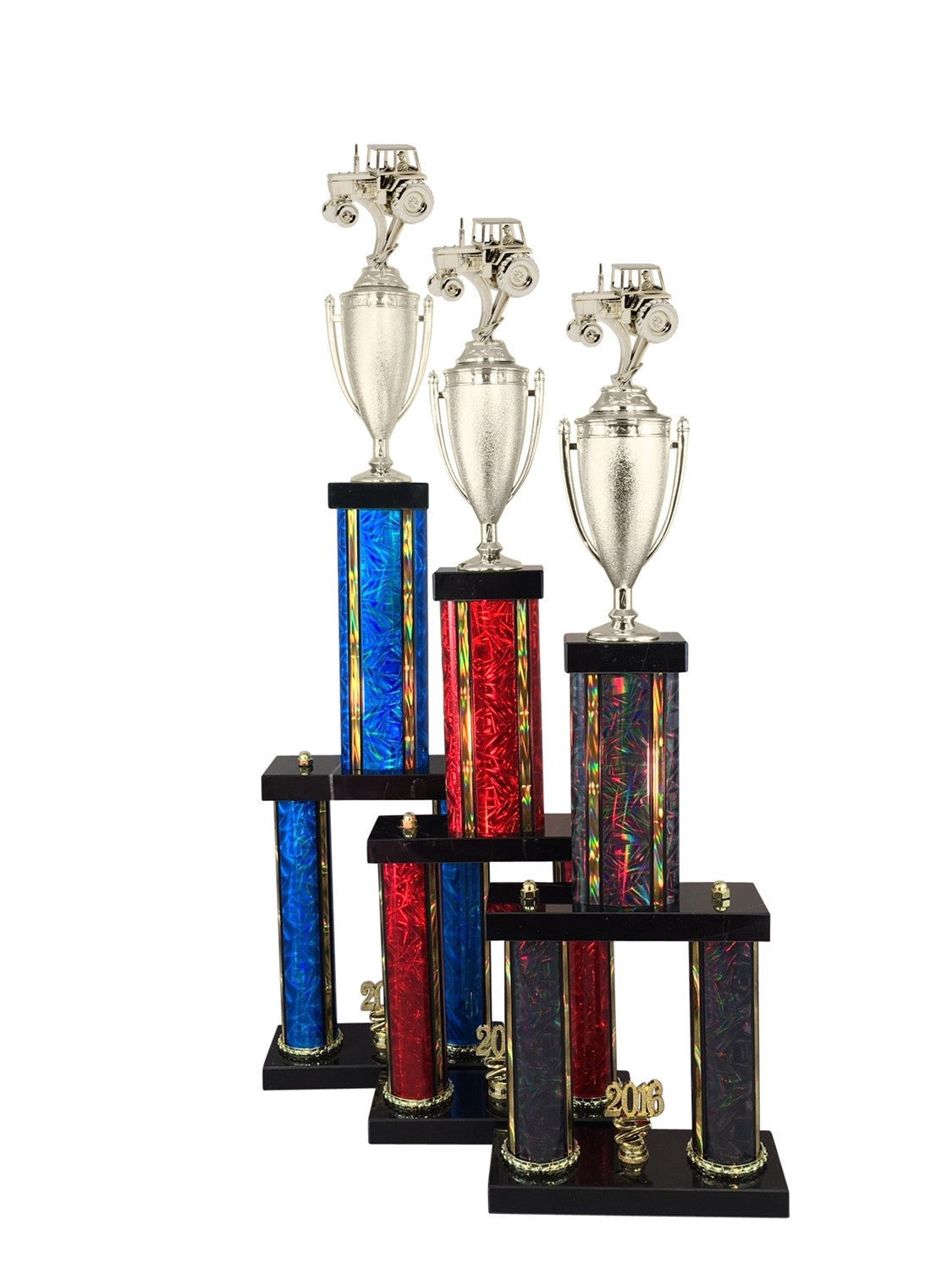 2 Column Tractor Trophy in 11 Color & 6 Size Options