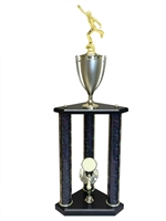 3 Post Male Ice Skating Trophy in 11 colors & 3 sizes