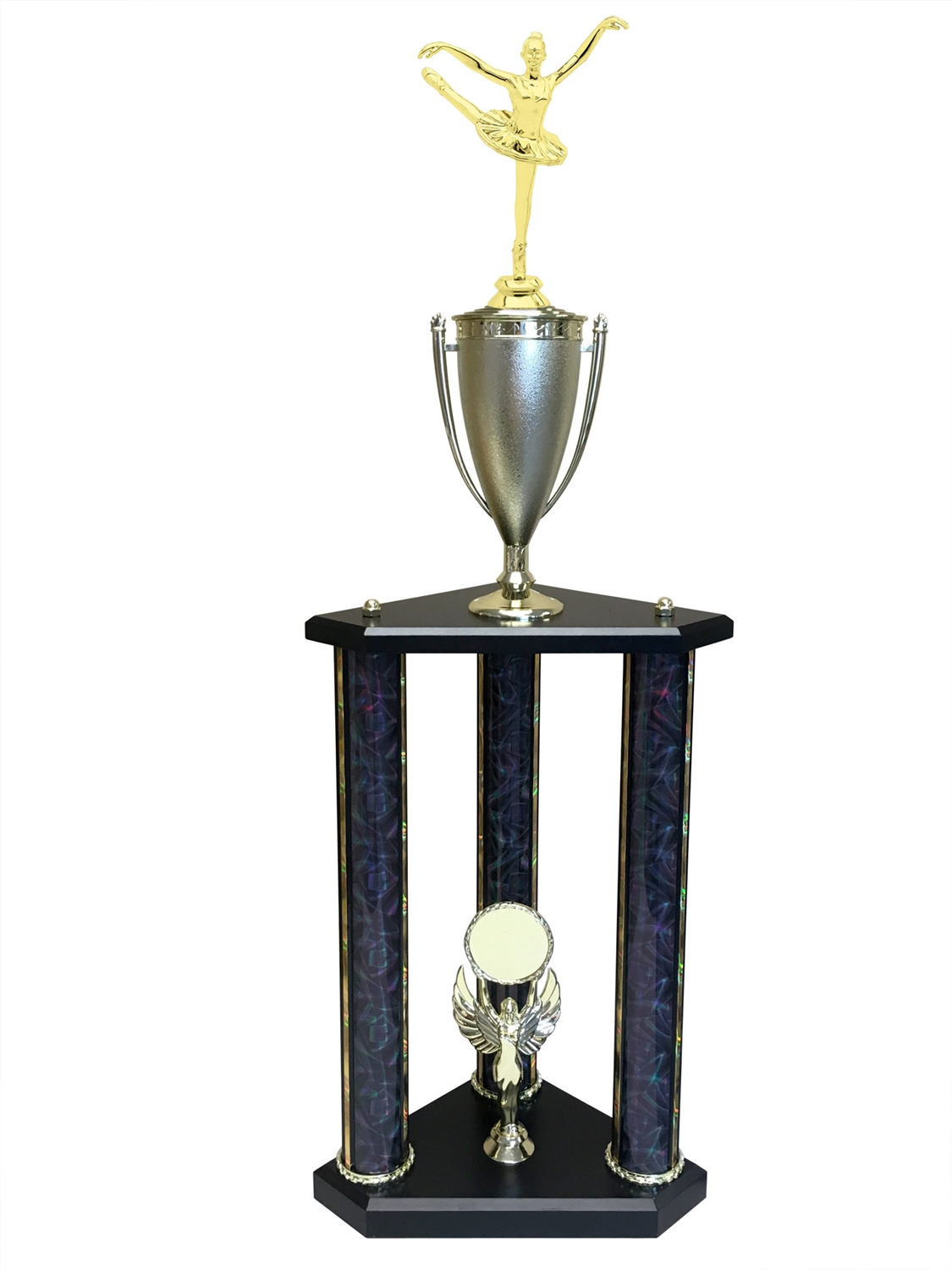 3 Post Ballet Trophy in 3 Sizes - in 11 colors & 3 sizes