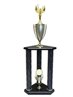 3 Post Female Victory Trophy in 11 colors & 3 sizes