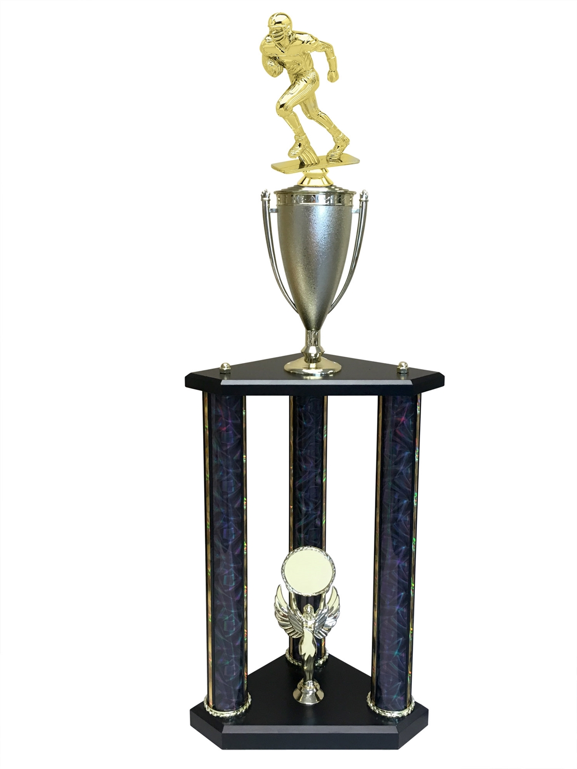 Football Runner Trophy Available in 11 colors & 3 sizes