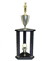 3 Post Female Graduate Trophy in 11 colors & 3 sizes