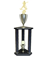 3 Post Female Softball Trophy in 11 colors & 3 sizes