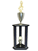 3 Post Boys Basketball Trophy in 11 colors & 3 sizes