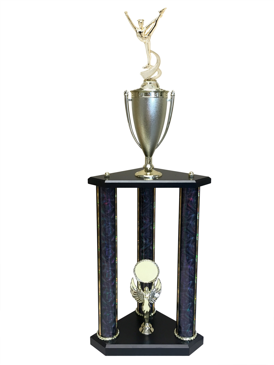 3 Post Dance Trophy in 11 colors & 3 sizes